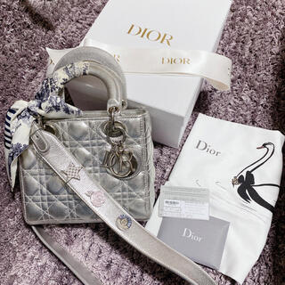 Christian Dior - Dior レディディオール  シルバー メタリック