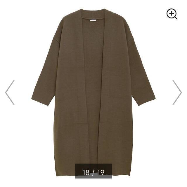 GU(ジーユー)のGU ロングニットガウン レディースのジャケット/アウター(ガウンコート)の商品写真