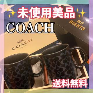 コーチ(COACH)の未使用 コーチ COACH 巨人 読売ジャイアンツ ペア マグカップ 2017(記念品/関連グッズ)