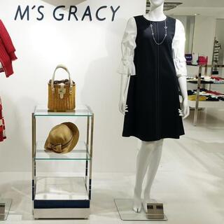 エムズグレイシー(M'S GRACY)の新品タグ付【M'S GRACY】2020年リボンブラウス風ワンピース(ひざ丈ワンピース)