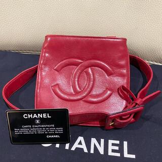 CHANEL - 美品 シャネル 正規品 ラムスキン ココマーク レザー ウエストバッグ