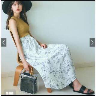 GRL - 花柄フレアスカート