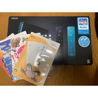 ウィー(Wii)のwii 本体 カセットセット(家庭用ゲーム機本体)