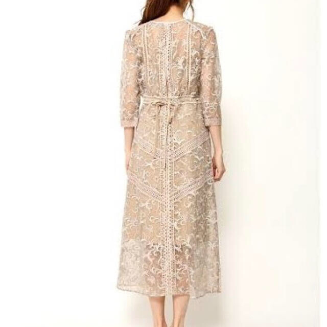 FRAY I.D(フレイアイディー)のFRAY I.D オーガンジーレースワンピース ドレス レディースのフォーマル/ドレス(ミディアムドレス)の商品写真