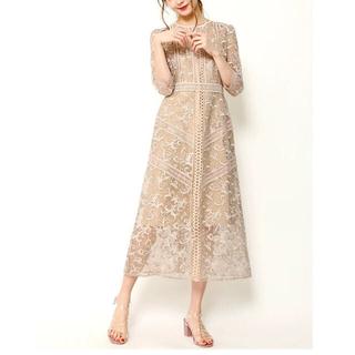 FRAY I.D - FRAY I.D オーガンジーレースワンピース ドレス