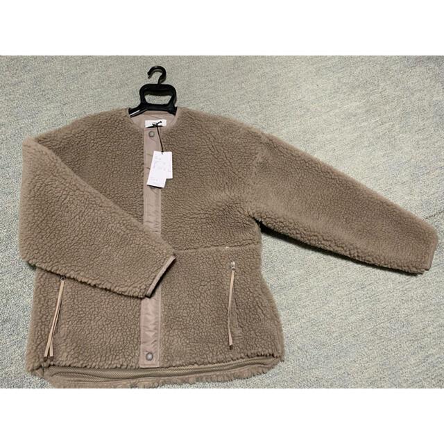 HYKE(ハイク)のハイク ボアジャケット グレー サイズ1 新品未着用 レディースのジャケット/アウター(ブルゾン)の商品写真