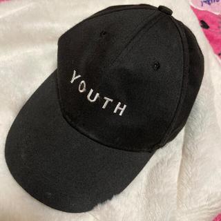 ウィゴー(WEGO)の黒キャップ 帽子(キャップ)