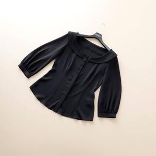 FOXEY - ■FOXEY NY■ 40 丸襟 チュニックブラウス 黒