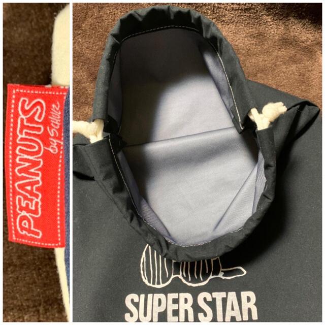 SNOOPY(スヌーピー)の未使用品 スヌーピー トートバッグ 紺白赤トリコロールカラー + 巾着袋 黒 レディースのバッグ(トートバッグ)の商品写真