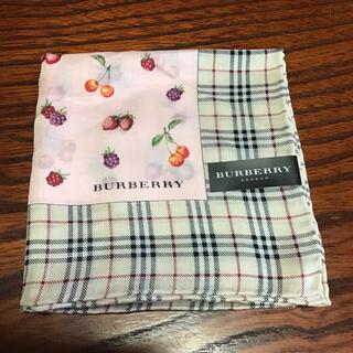 BURBERRY - バーバリーハンカチ 大判 スカーフ 新品未使用品