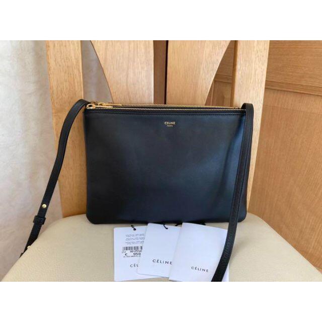 celine(セリーヌ)のCELINE セリーヌ トリオ バック スムースラムスキン ブラック レディースのバッグ(ショルダーバッグ)の商品写真