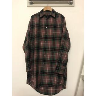 LAD MUSICIAN - ラッドミュージシャン 16AW タータンチェックロングシャツ 42サイズ