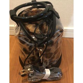 URBAN RESEARCH -  アーバンリサーチ バック ファー巾着付きクリアショルダーバッグ