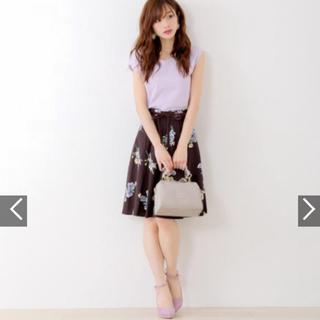 MISCH MASCH - ブラウン 花柄スカート  フレア