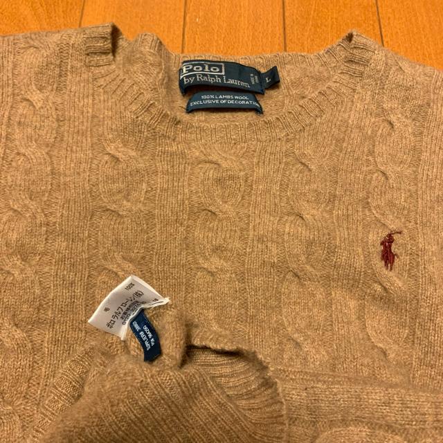 Ralph Lauren(ラルフローレン)の古着 90s POLO Ralph Lauren ニット セーター クルーネック レディースのトップス(ニット/セーター)の商品写真