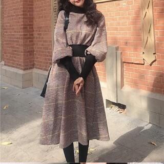 ZARA - 韓国ファッション 格子 ワンピース チェック柄 レディース  即日発送