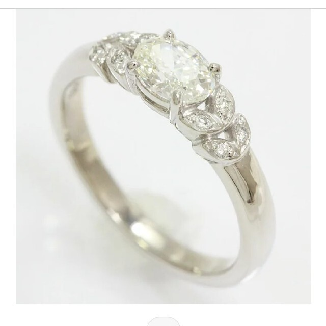 Pt900 ダイヤモンド リング オーバル 一粒 0.52ct レディースのアクセサリー(リング(指輪))の商品写真