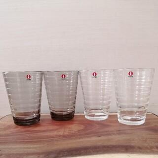 イッタラ(iittala)のイッタラ アイノアアルト ハイボール グラス リネン 4点セット 新品(グラス/カップ)