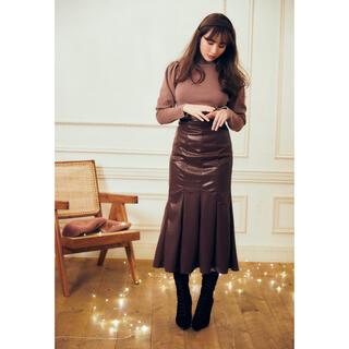 snidel - Her lip to♡正規品Vegan Leather Midi Skirt