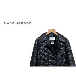 マークバイマークジェイコブス(MARC BY MARC JACOBS)のMARC JACOBS ハウンドトゥース キルティング ライダース コート(ライダースジャケット)