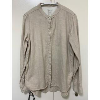 MUJI (無印良品) - 無印良品 フランネル生地 ノーカラーシャツ