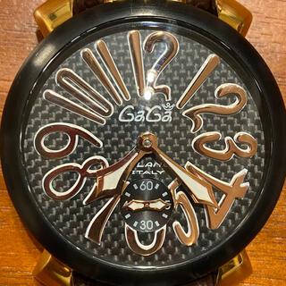 ガガミラノ(GaGa MILANO)のガガミラノ カーボン  5014.01Sギャラ付 マニュアーレ(腕時計(アナログ))