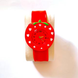 パッチンバンド キッズ 腕時計 【イチゴ】(腕時計)