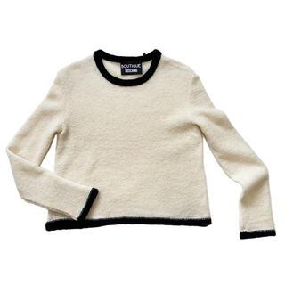 モスキーノ(MOSCHINO)の新品モスキーノ もこもこセーター 白 #40 MOSCHINO(ニット/セーター)