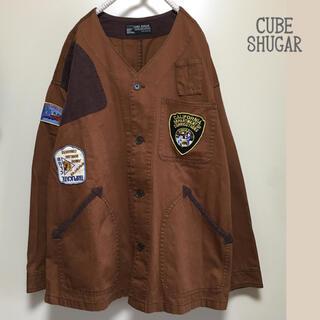 キューブシュガー(CUBE SUGAR)のCUBE SHUGAR ワッペン付 ハンティング ジャケット リメイク(ミリタリージャケット)