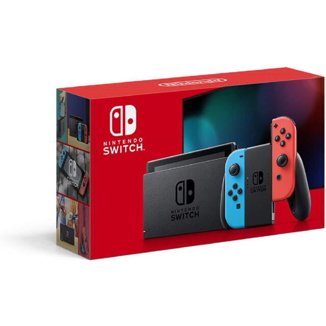 Nintendo Switch(ニンテンドースイッチ)のSwitch ネオン 本体 新品未使用 エンタメ/ホビーのゲームソフト/ゲーム機本体(家庭用ゲーム機本体)の商品写真
