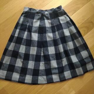 オペークドットクリップ(OPAQUE.CLIP)のオペークドットクリップ チェック柄 スカート モノトーン(ひざ丈スカート)
