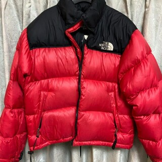 THE NORTH FACE - THE NORTH FACE ダウンヌプシ 赤 M