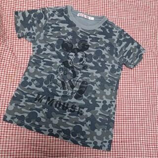 ディズニー(Disney)の☃️断捨離セール☃️ユニクロ  ミッキーTシャツ  グレー  130(Tシャツ/カットソー)
