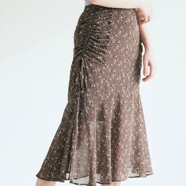 PROPORTION BODY DRESSING(プロポーションボディドレッシング)のECLIN サイドギャザーマーメイドスカート レディースのスカート(ロングスカート)の商品写真
