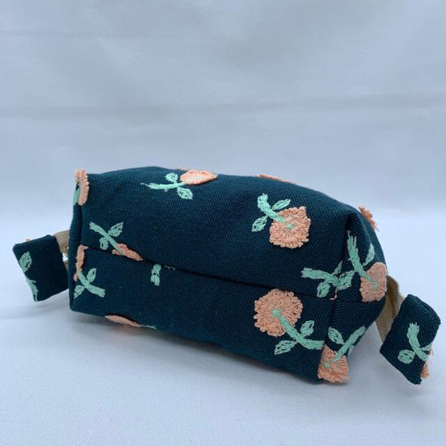 mina perhonen(ミナペルホネン)のミナペルホネン ハンドメイドワイヤーポーチskipダークグリーン ハンドメイドのファッション小物(ポーチ)の商品写真