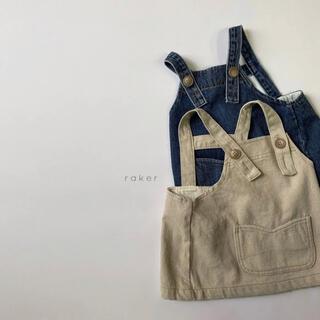 rakar バックラインスカートサロペット 韓国子供服(スカート)