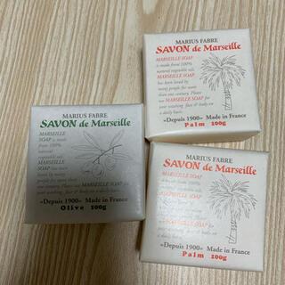 サボンドマルセイユ 石鹸3つ(ボディソープ/石鹸)