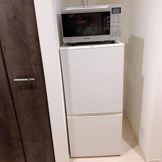 アイリスオーヤマ(アイリスオーヤマ)の【使用1年半】冷蔵庫 洗濯機 オーブンレンジ(冷蔵庫)