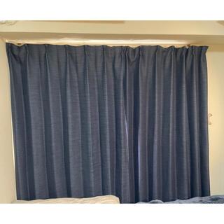 ニトリ(ニトリ)のカーテン ニトリ ネイビー 幅100×丈200cm×2枚(カーテン)
