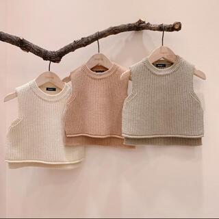 Aosta Knitベスト 韓国子供服(ニット/セーター)