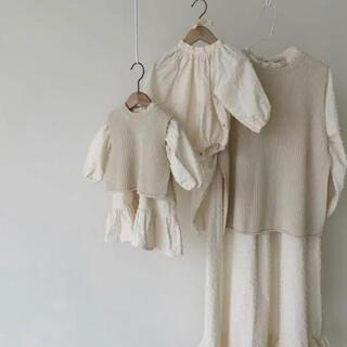 Aosta Knitベスト レディース 韓国子供服(ニット/セーター)