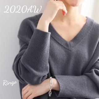 IENA - 【2020AW】AQUA Vネックプルオーバー◆グレー