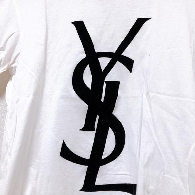 Yves Saint Laurent Beaute(イヴサンローランボーテ)のイヴ・サンローラン カットソー ホワイトS Yves Saint-Laurent メンズのトップス(Tシャツ/カットソー(半袖/袖なし))の商品写真