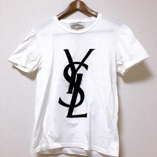 イヴサンローランボーテ(Yves Saint Laurent Beaute)のイヴ・サンローラン カットソー ホワイトS Yves Saint-Laurent(Tシャツ/カットソー(半袖/袖なし))