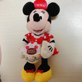 ディズニー(Disney)のミニーマウス バースデーぬいば(キャラクターグッズ)