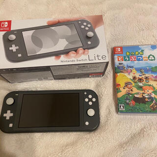 Nintendo Switch - Nintendo Switch  Lite gray 任天堂 どうぶつの森
