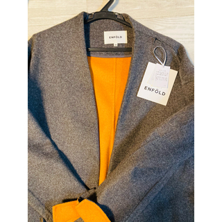 ENFOLD - 袖オレンジ チャコールグレー サイズ38