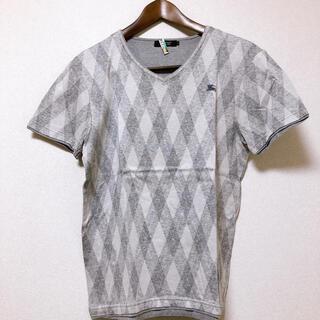 バーバリーブラックレーベル(BURBERRY BLACK LABEL)のバーバリーブラックレーベル  VネックTシャツ Mサイズ(Tシャツ/カットソー(半袖/袖なし))