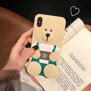 スターバックスコーヒー(Starbucks Coffee)の★只今1900円→1600円iPhone癒しベアー☆スタバスマホカバー★(iPhoneケース)