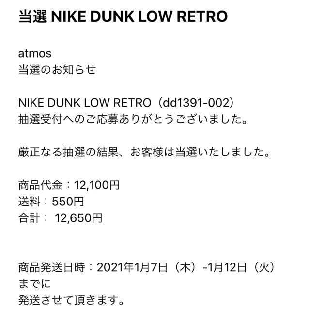 NIKE(ナイキ)のNIKE DUNK LOW RETRO US10 28.0cm メンズの靴/シューズ(スニーカー)の商品写真